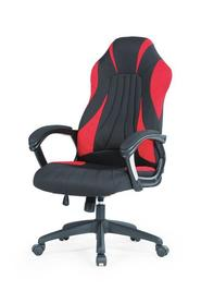 Fotel gabinetowy Sheriff czarny/czerwony tkanina Halmar