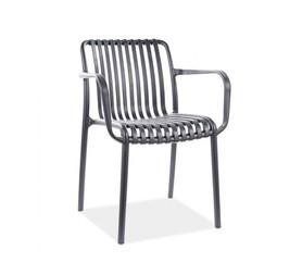 Krzesło Travis czarny polipropylen signal