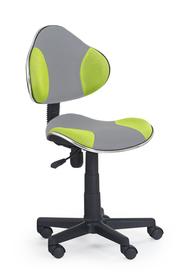 Fotel młodzieżowy Flash 2 popiel/zielony tkanina membranowa Halmar
