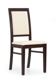 Krzesło sylwek 1 ciemny orzech eko/drewno halmar