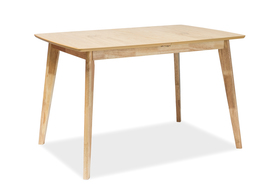 Rozkładany stół Brando 120(160)x80 dąb mdf/okleina naturalna/drewno Signal