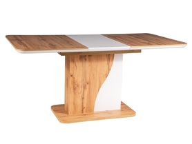 Rozkładany stół Syriusz 120(160)x80 dąb wotan/biały laminat Signal