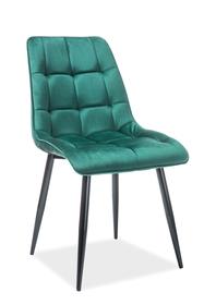 Krzesło chic velvet zieleń/czerń metal signal