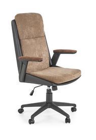 Fotel gabinetowy Herbic brąz/czarny tkanina eco skóra Halmar