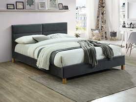 Łóżko sypialniane Sierra 160x200 szary velvet/dąb signal