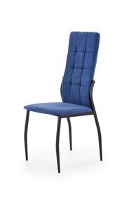 Krzesło K-334 ciemny niebieski tkanina/stal Halmar