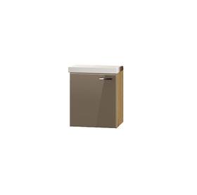 Szafka łazienkowa Dublin z umywalką 49 cm dąb artisan/beż połysk