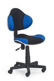 Fotel młodzieżowy Flash czarny/niebieski tkanina membranowa Halmar