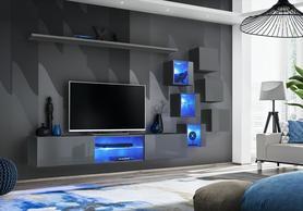Meblościanka Switch 21 grafit połysk + LED
