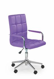 Fotel młodzieżowy Gonzo 2 fiolet eco skóra Halmar