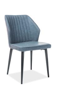 Krzesło apollo niebieski/czerń eco skóra/metal signal