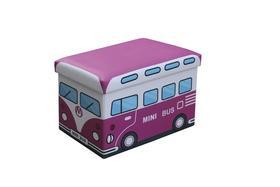 Kiri pufa różowy minibus halmar