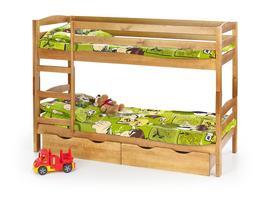 Sam łóżko piętrowe sosna halmar