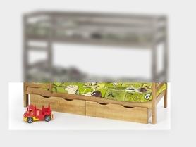 Szuflady do łóżka dziecięcego sam sosna