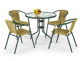 Stół do ogrodu z blatem szklanym grand 80 halmar