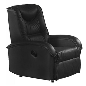 Fotel wypoczynkowy rozkładany jeff czerń eco skóra halmar