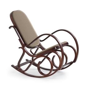 Fotel bujany max bis plus orzech tkanina/drewno halmar