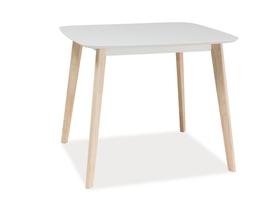 Stół Tibi 90x80 biały/dąb bielony mdf/drewno Signal
