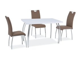 Stół sk-2 120x68 cm biały połysk mdf/chrom signal