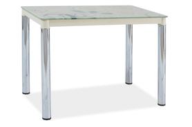 Szklany stół damar ii krem/chrom 100x60 signal