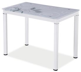 Szklany stół damar biały 100x60 signal