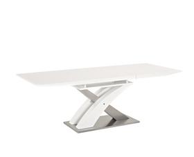 Rozkładany stół raul biały mdf+stal 140(180)x85 signal