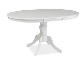 Rozkładany stół Olivia 106(141)x106 biały mdf/drewno Signal