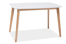 Stół Mosso I 120x75 biały/dąb mdf/drewno Signal