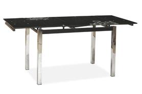 Rozkładany stół gd-017 czarne szkło/chrom 110(170)x74 signal