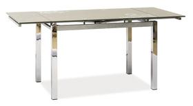 Rozkładany stół gd-017 ciemny beż szkło/chrom 110(170)x74 signal