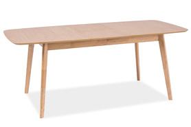 Rozkładany stół felicio 120(150)x75 dąb/mdf signal