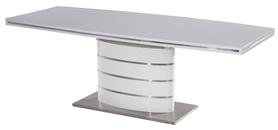 Rozkładany stół Fano 160(220)x90 biały mdf/stal Signal