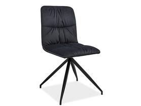 Krzesło Alex grafitowa tkanina/czarny metal signal