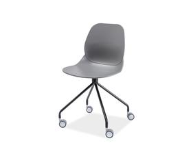 Krzesło na kółkach alfio czarny/szary tworzywo signal