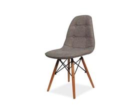 Krzesło Axel II szara tkanina/drewno bukowe signal