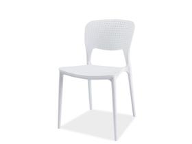 Krzesło axo białe tworzywo signal