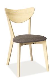 Krzesło CD-37 dąb bielony/szary drewno/tkanina signal