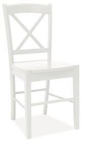 Krzesło CD-56 białe drewno/mdf signal