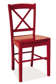 Krzesło CD-56 czerwone drewno/mdf signal