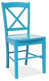 Krzesło CD-56 niebieskie drewno/mdf signal