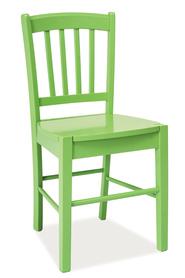 Krzesło CD-57 zielone drewno/mdf signal
