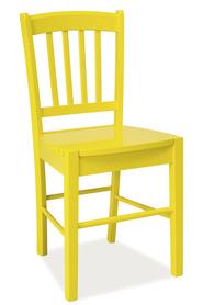 Krzesło CD-57 żółte drewno/mdf signal