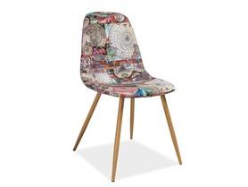 Krzesło Citi mapa tkanina/metal signal