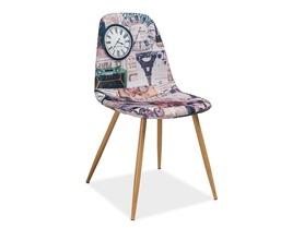 Krzesło Citi paryż tkanina/metal signal