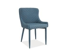 Krzesło Colin denim tkanina/metal signal