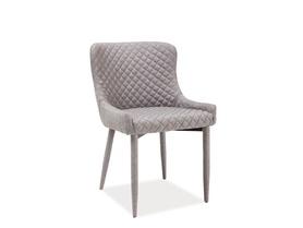Krzesło Colin szara tkanina/metal signal