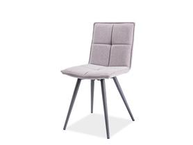 Krzesło Dario szara tkanina/szary metal signal