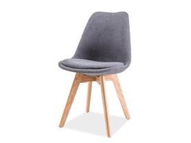 Krzesło Dior ciemno szara tkanina/drewno dąb signal