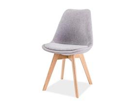 Krzesło Dior jasno szara tkanina/drewno dąb signal