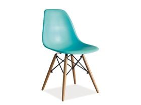 Krzesło Enzo morski tworzywo/drewno buk signal